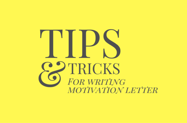 5 tips for writing a motivational letter for University Admission