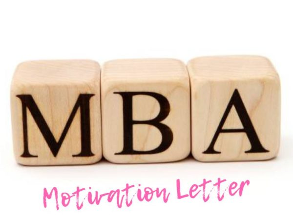 MOTIVATION LETTER FOR MBA SAMPLE