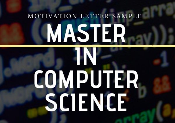Motivation letter for a Master's in Computer Science Sample