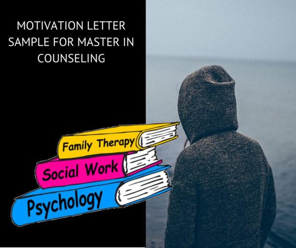 Sample motivation letter for Master in Counseling