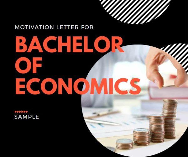 Motivation letter for Bachelor of Economics sample