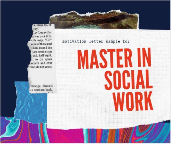 Motivation letter for master's in social work sample