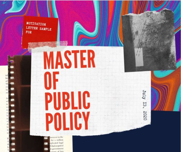 How to write Motivation letter for master of public policy?