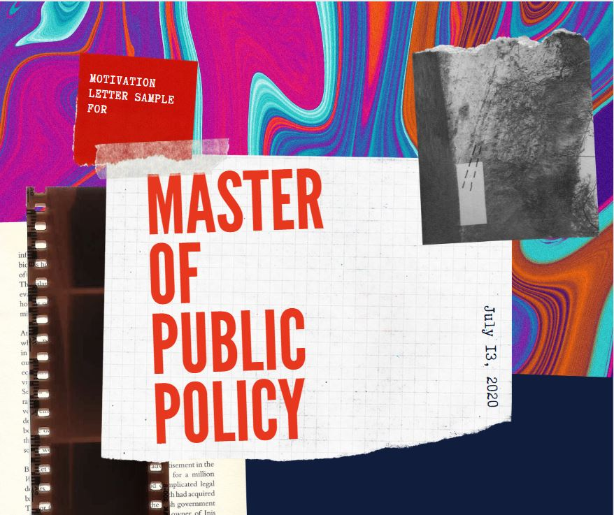 Motivation Letter for Master of Public Policy