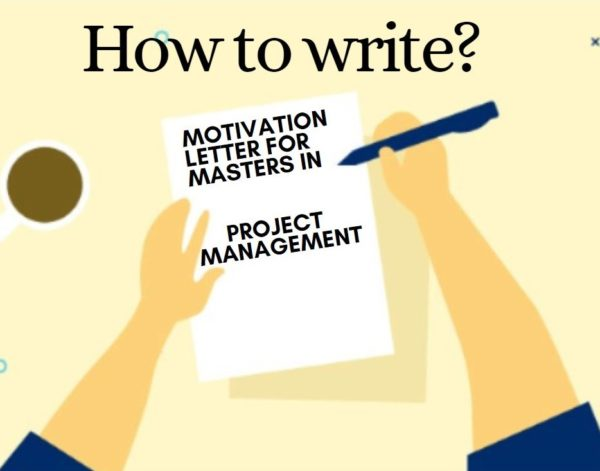 Motivation letter sample for a Master's in Project Management